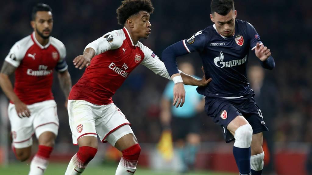 arsenal through in europa league everton knocked out