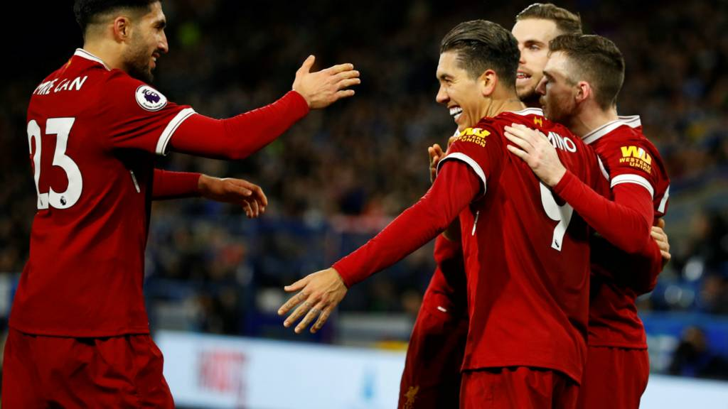 Firmino celebrates goal with teammates