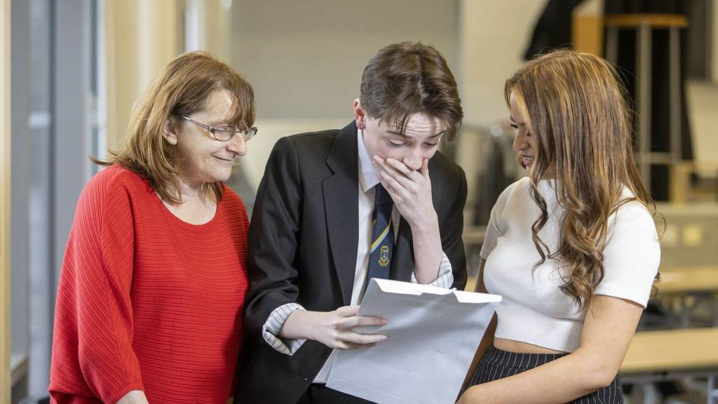 pupil receives results