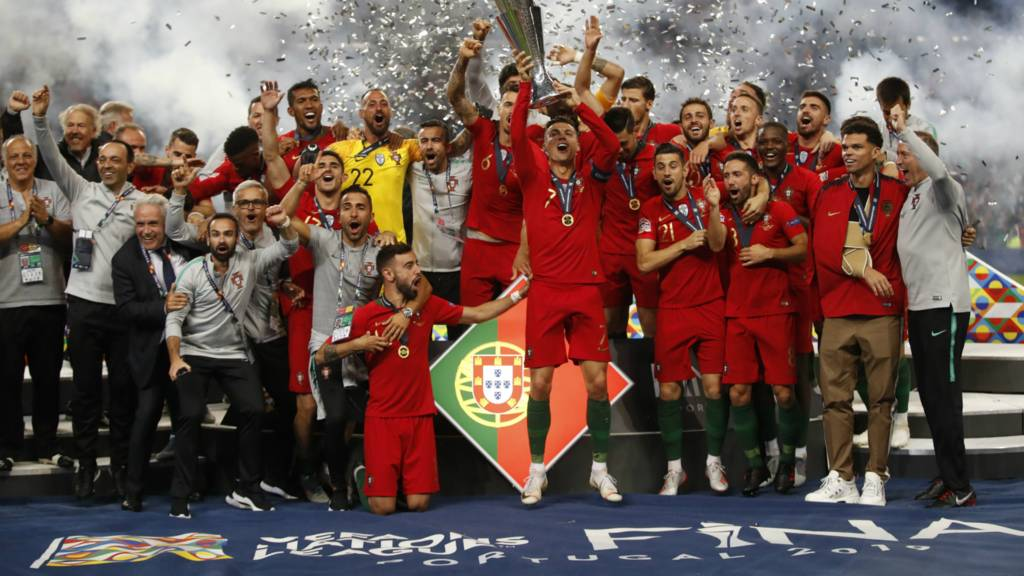 Portugal lift the Nations League trophy
