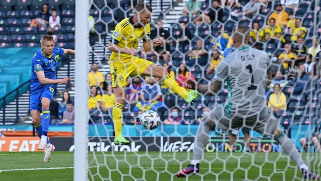 Euro 2020: Watch Sweden 0-1 Ukraine - Zinchenko lashes in opener at Hampden - Live - BBC Sport