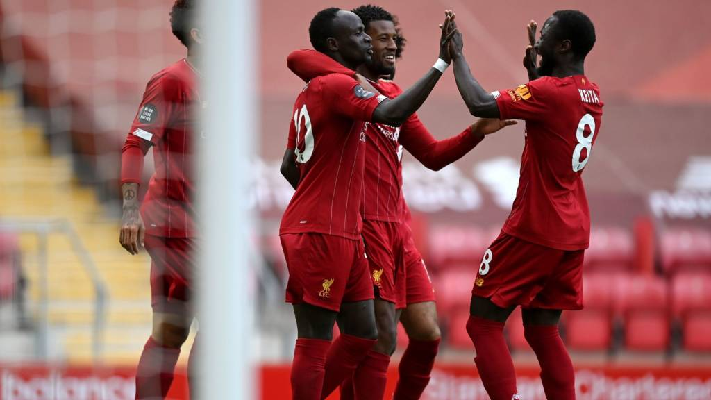 Mane and Liverpool celebrate