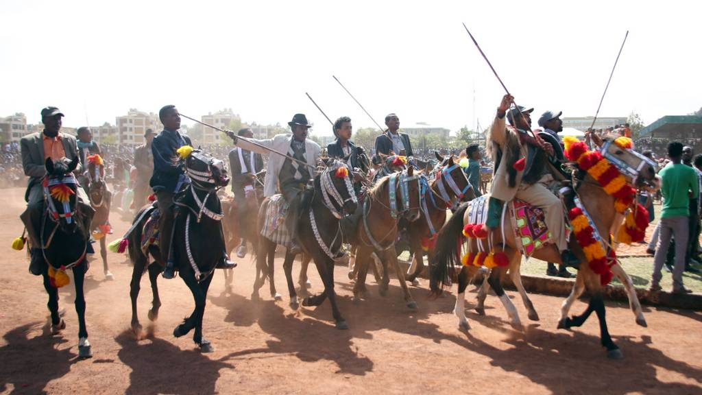 Ethiopians on horseback - April 2018