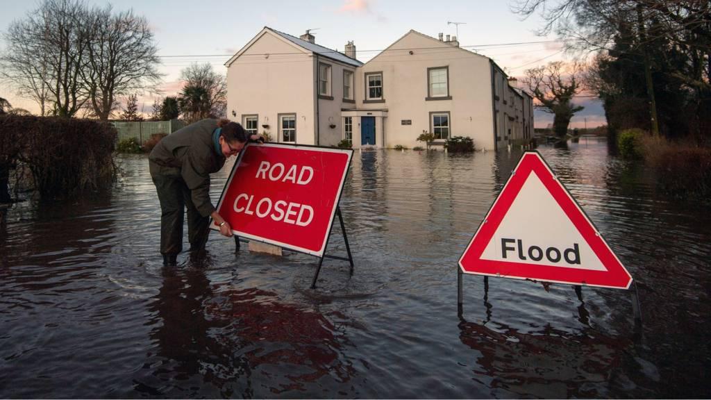 Flooding near Lymm