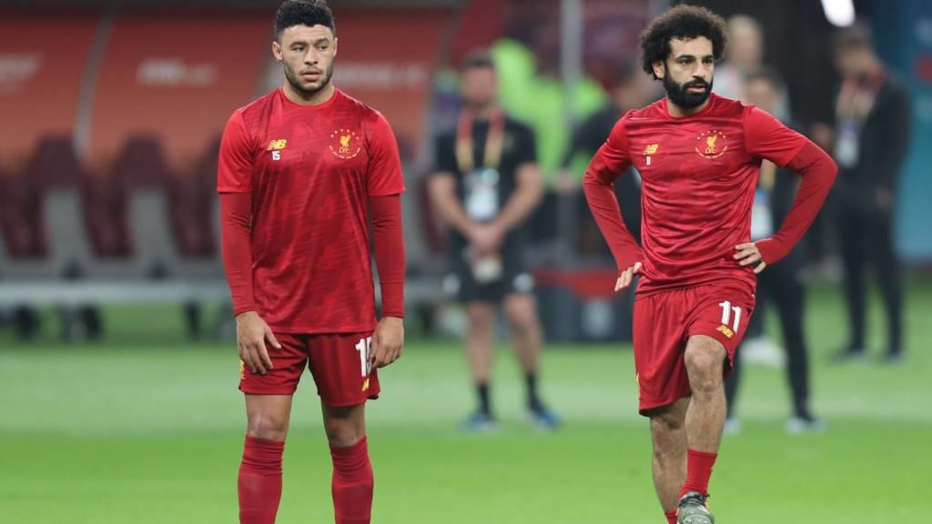 Alex Oxlade-Chamberlain and Mohammed Salah