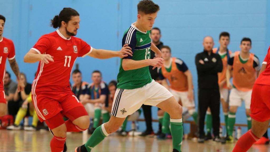 Action from NI v Wales futsal game