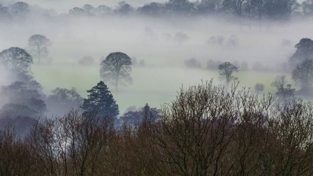 Hope Valley in the mist
