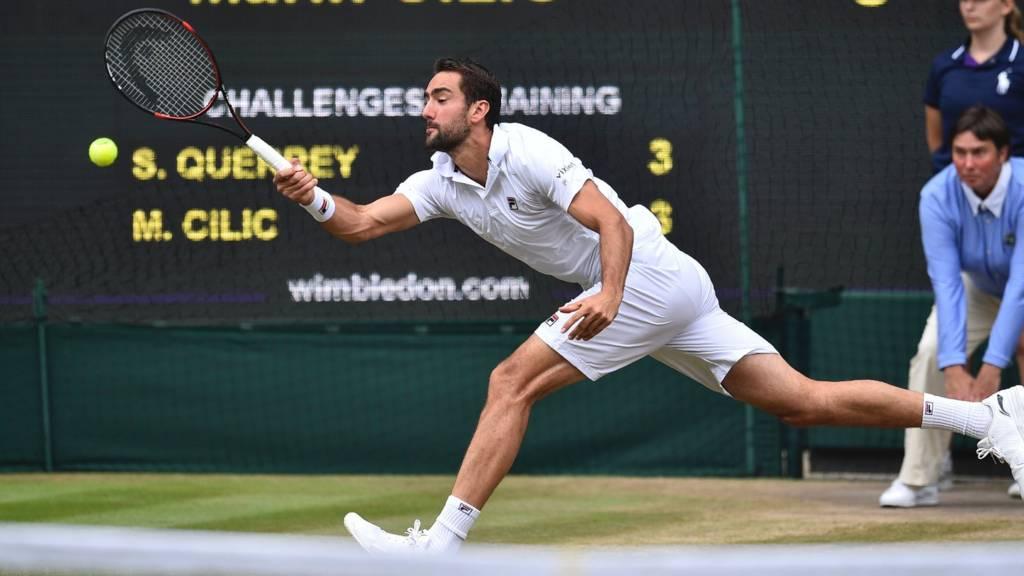 Adrian Mannarino vs Novak Djokovic Wimbledon Men's 2017