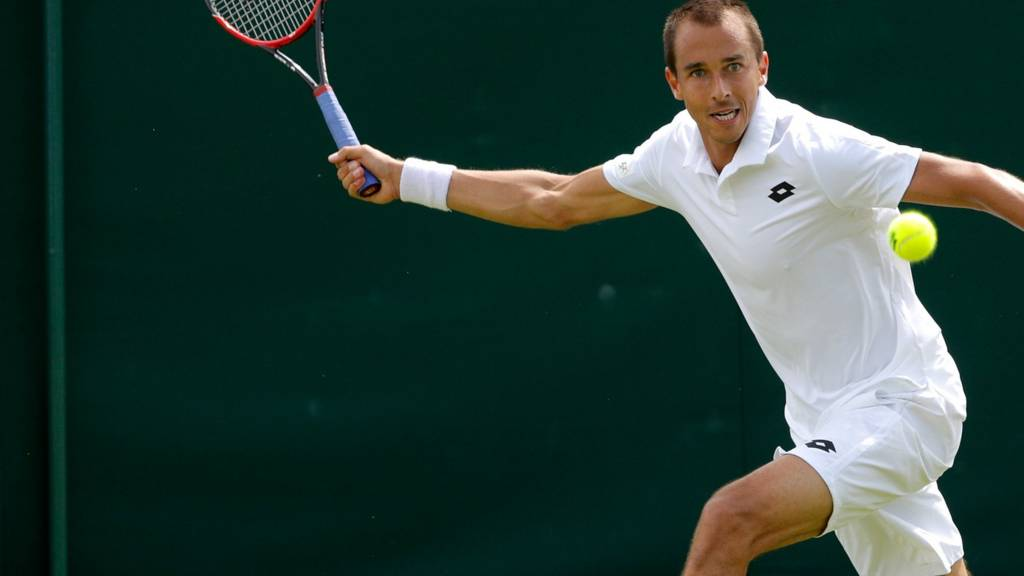 Lukas Rosol of Czech Republic
