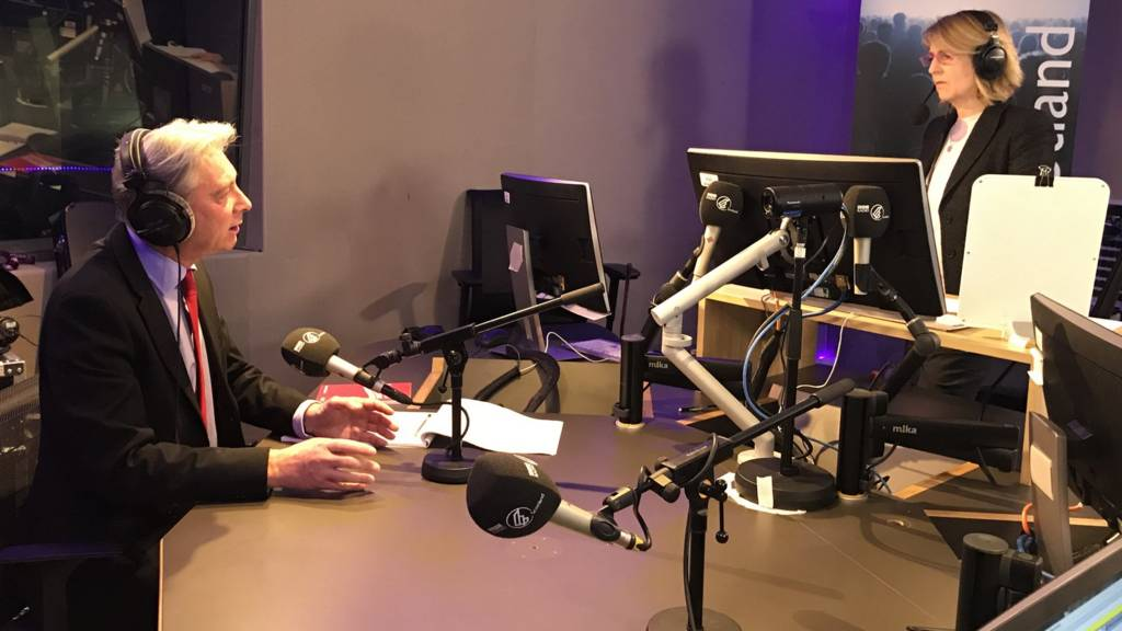 Richard Leonard in the studio