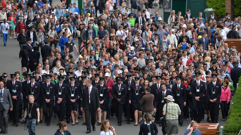 People enter Wimbledon
