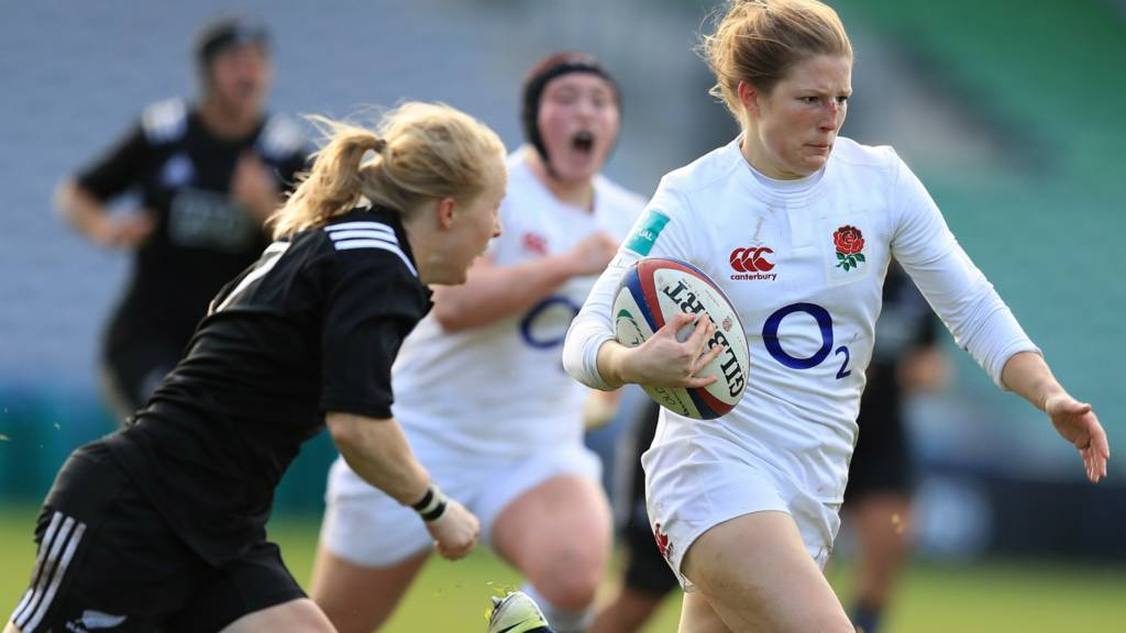 England's Lydia Thompson against New Zealand