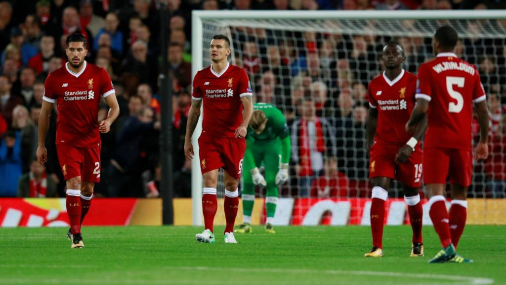 Liverpool look dejected as Sevilla equalise