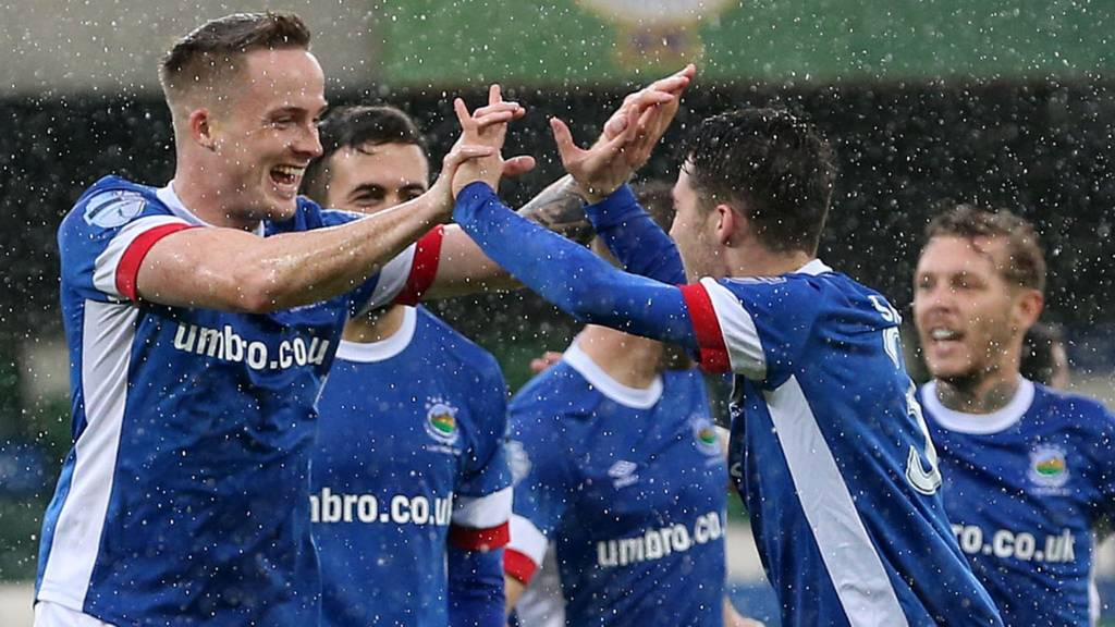 Aaron Burns put Linfield into the lead against Ards