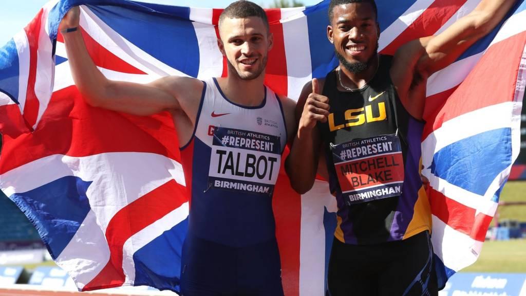 Nethaneel Mitchell-Blake celebrates alongside Danny Talbot