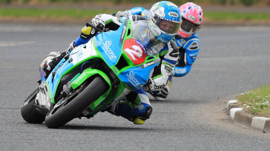 Dean Harrison in action at the North West 200