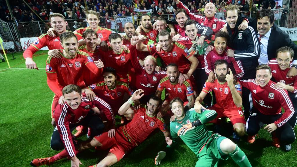 Wales celebrate qualification