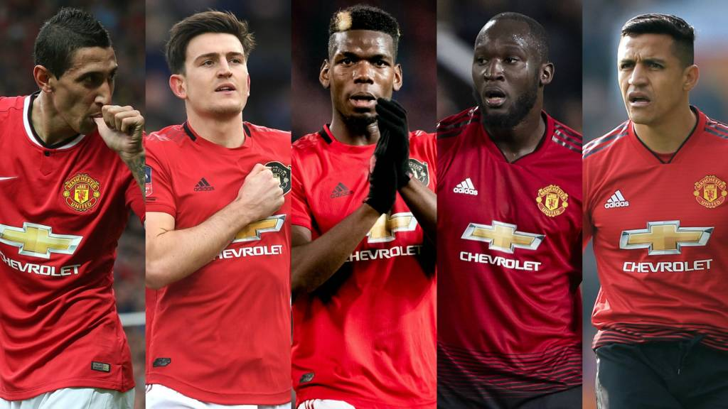 Angel di Maria, Harry Maguire, Paul Pogba, Romelu Lukaku, Alexis Sanchez