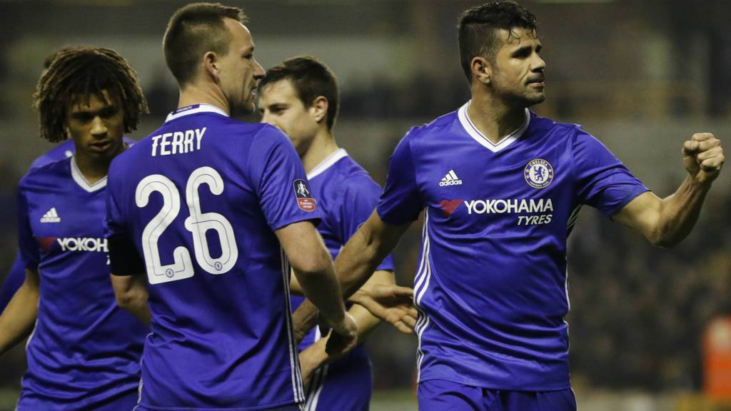Chelsea celebrate second goal