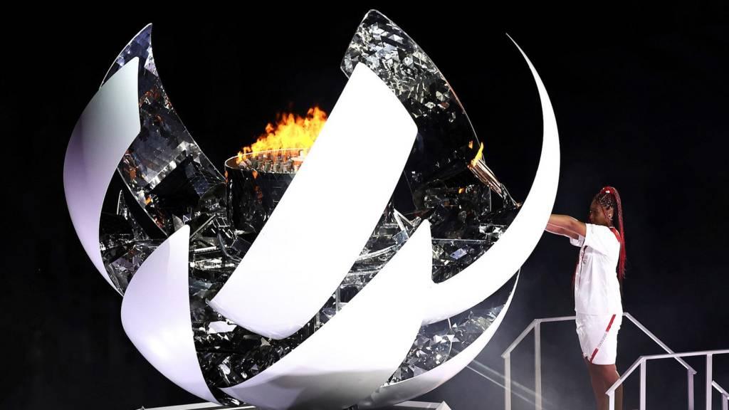 Naomi Osaka lights Olympic cauldron at Tokyo 2020 Opening Ceremony