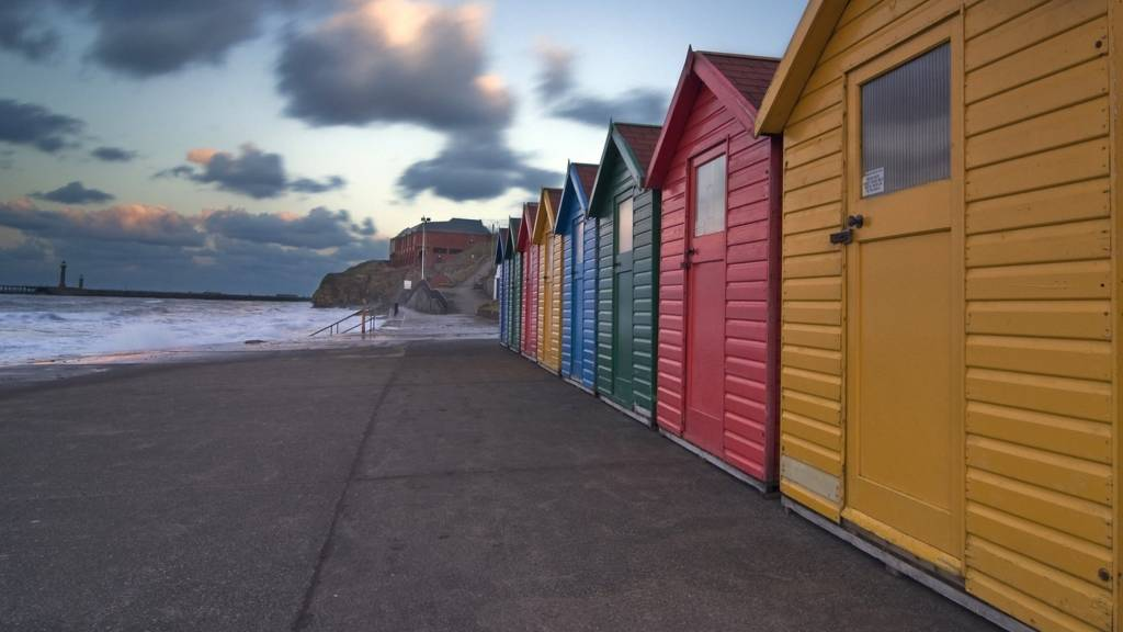 Beach huts at Whitby