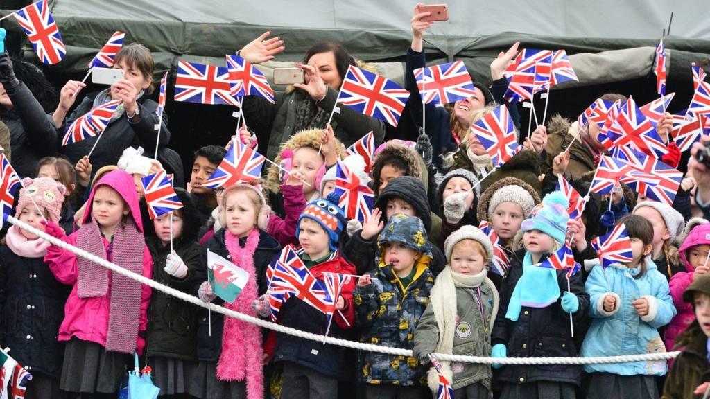 Crowds of children
