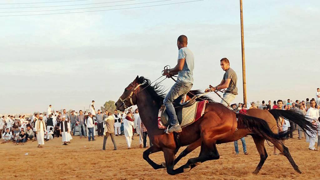 Horse racing in Tripoli, Libya - 2015