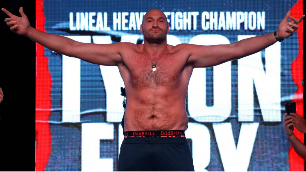 Tyson Fury sends a message to Deontay Wilder after beating Tom Schwarz