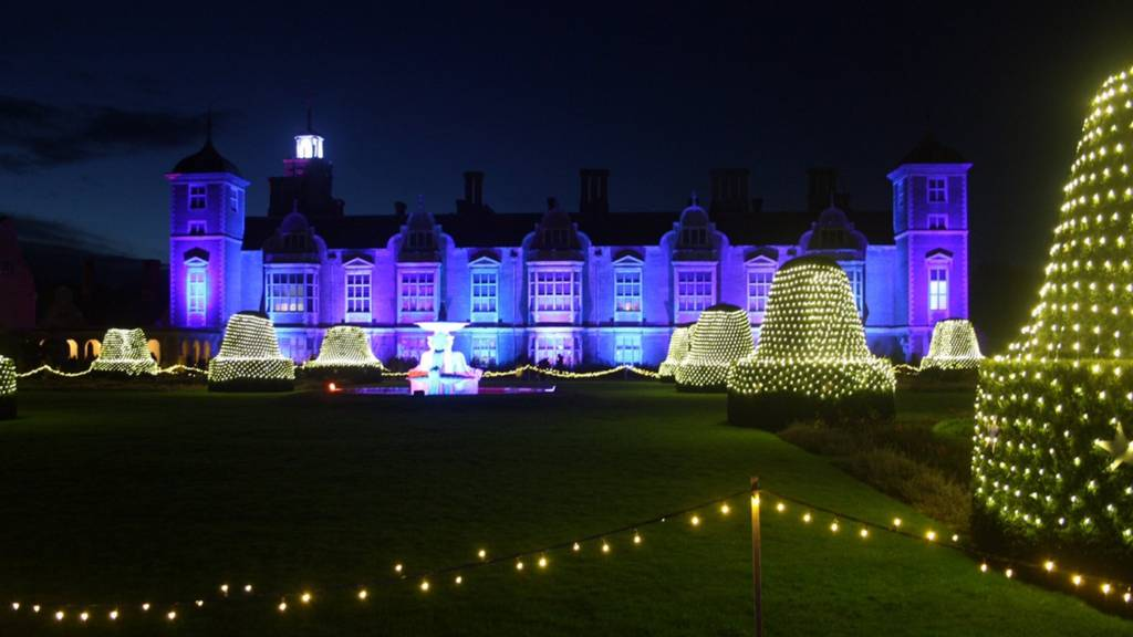 Christmas lights, Blickling Hall