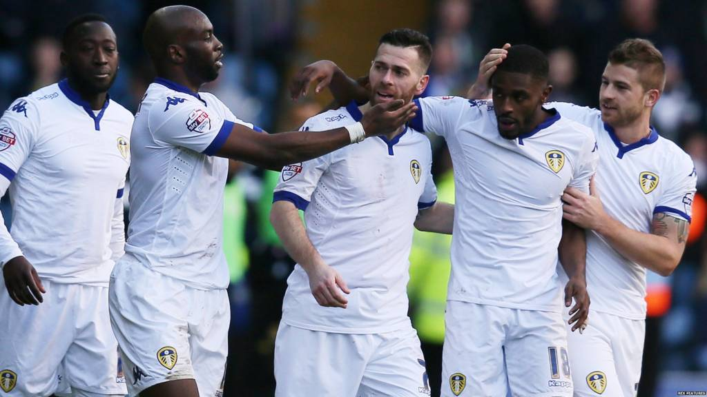 Mirco Antenucci and Leeds celebrates