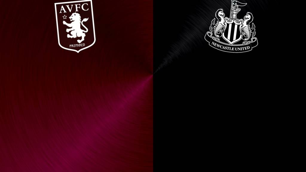 Aston Villa v Newcastle badges