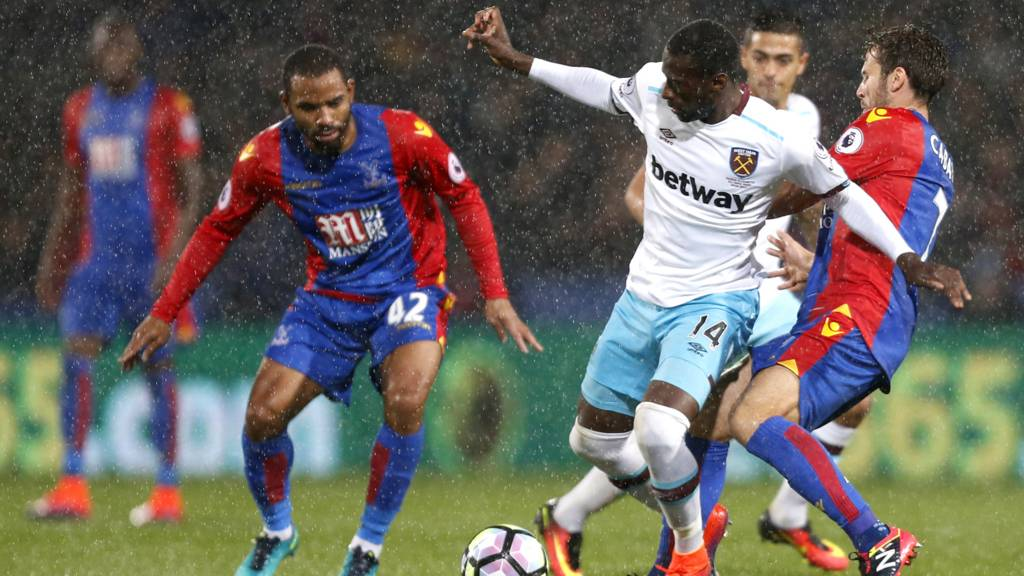 Jason Puncheon challenges for the ball