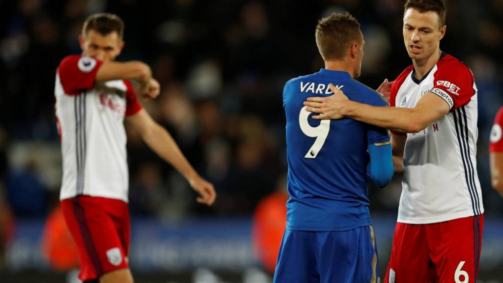 Jonny Evans and Jamie Vardy