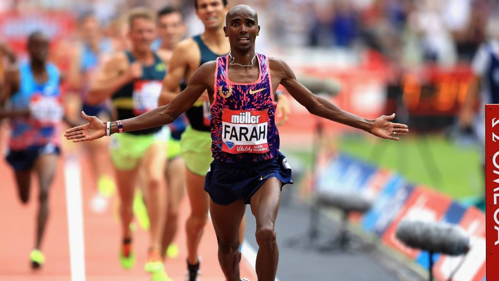 Image result for Mo Farah wins 3,000m at Anniversary Games in London