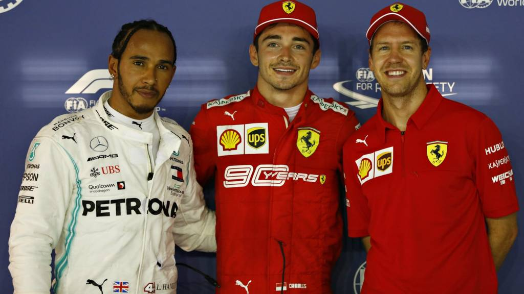 Hamilton, Leclerc and Vettel