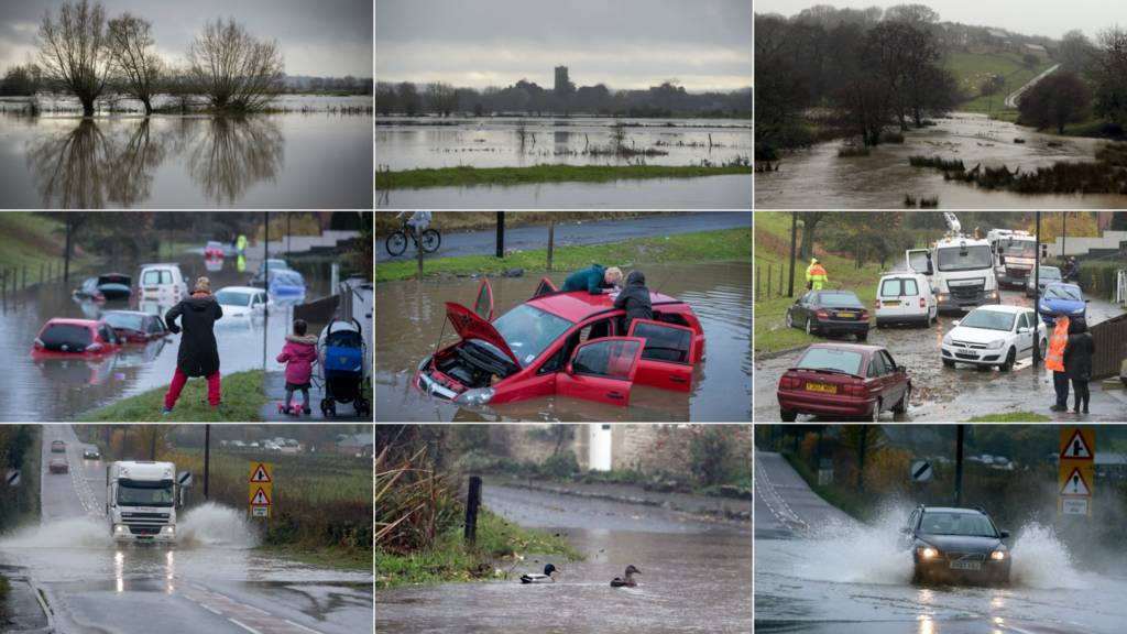A montage of flood images in the West region