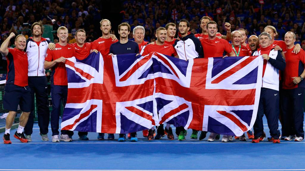 Great Britain celebrate getting to the final