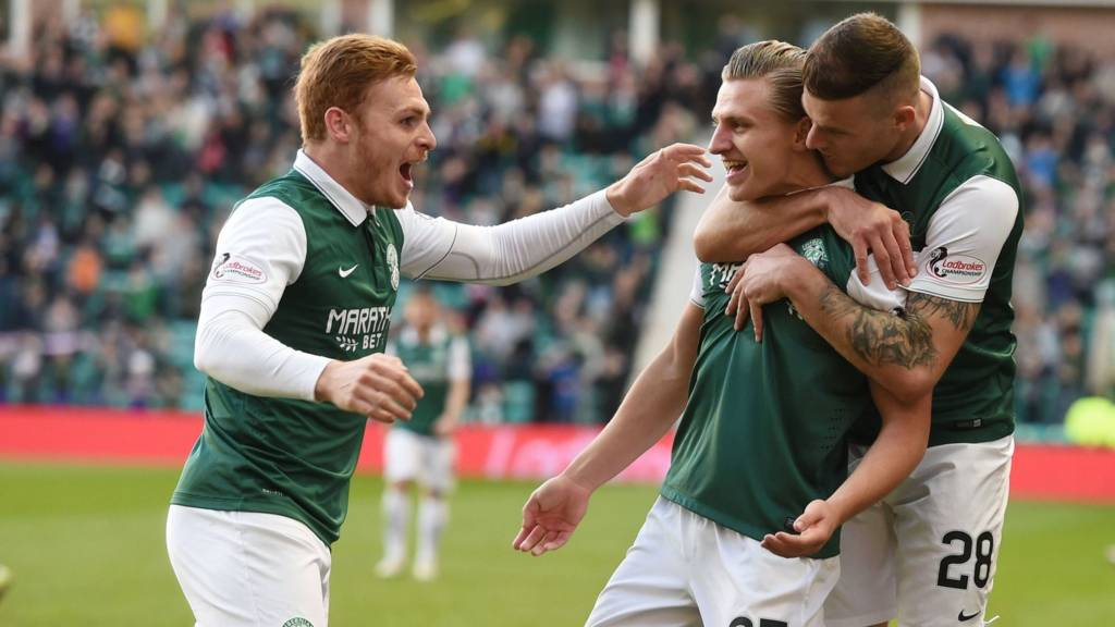 Hibs take an early lead at Easter Road