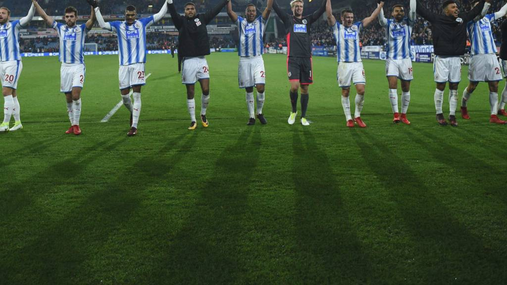 Huddersfield celebrate their victory