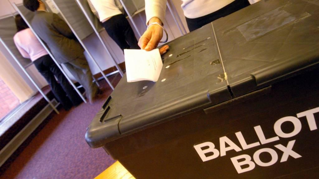 Ballot box at polling station
