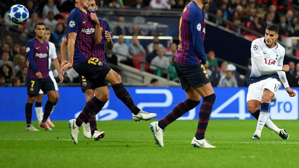 UCL2 - Spurs v Barcelona - ยานแม่มาปิ้งไก่