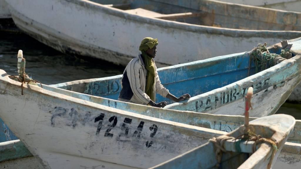A fisherman in Mauritania