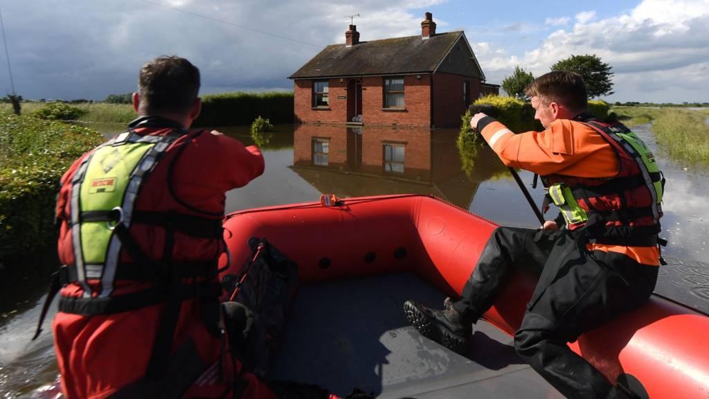 Boat in flood