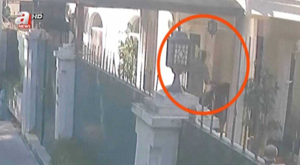 صورة من المقطع الذي بثته القناة التركية حول نقل رفات خاشقجي