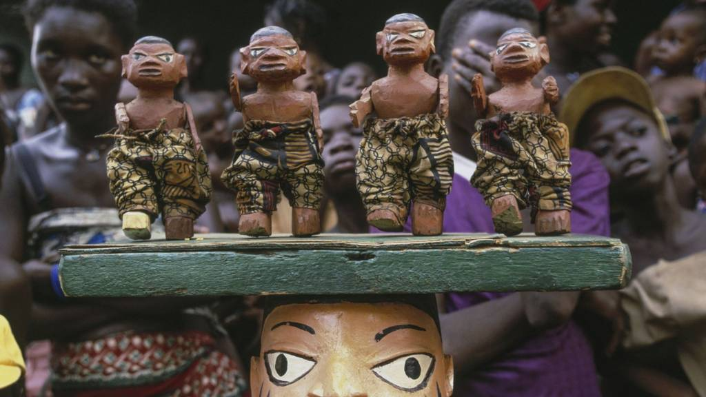 Mask for the Gelede Dance, Cove, Benin