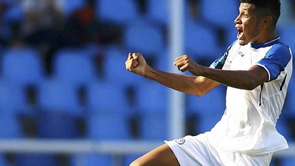 Honduras celebrate their second goal