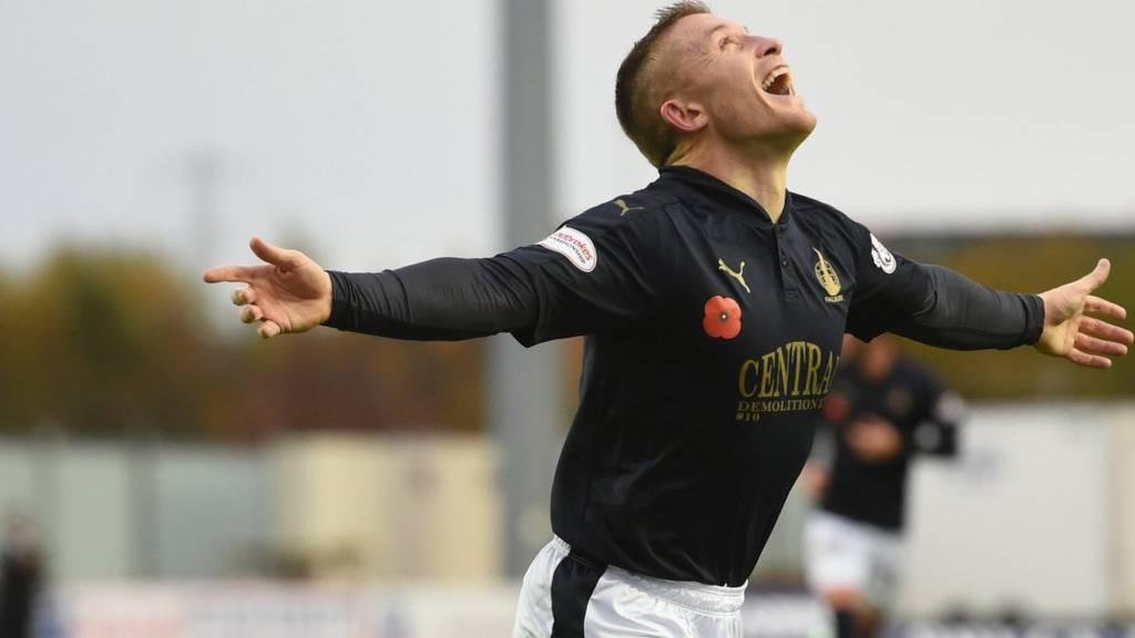 John Baird grabbed a first-half hat-trick for Falkirk against Alloa