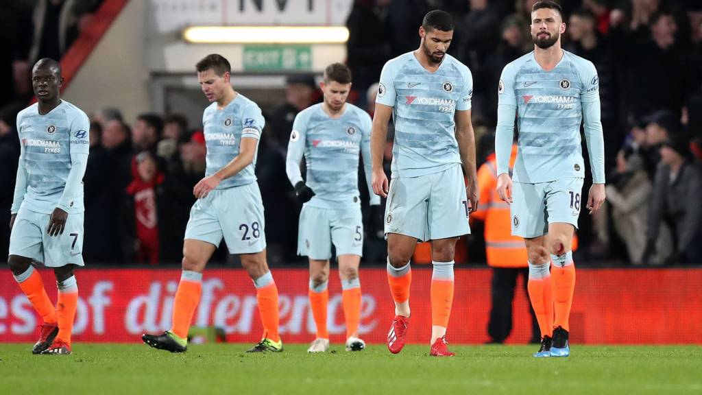Chelsea react after defeat