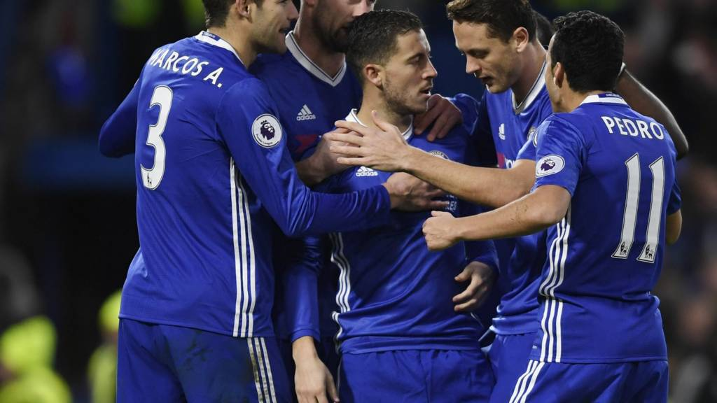Chelsea's players celebrate