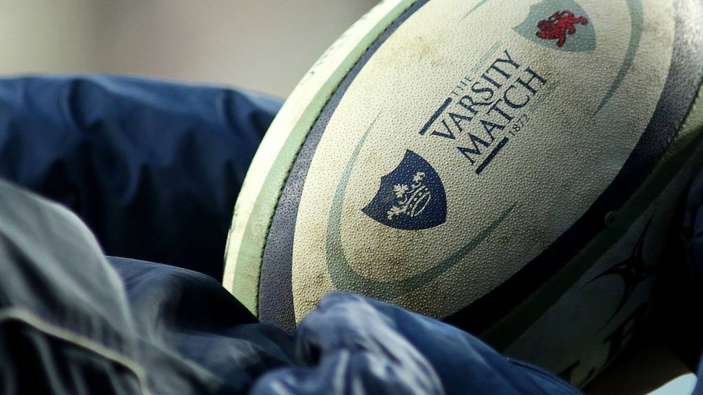 A varsity rugby ball